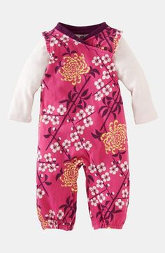 Tea Collection 'Branch Blossom' Romper (Baby Girls)