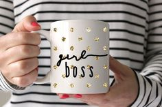 Girl Boss    - Adorable mug for the office comedian, fun loving, sometimes basic and loves, it diva of the work place.  - Great gift - - Awesome for