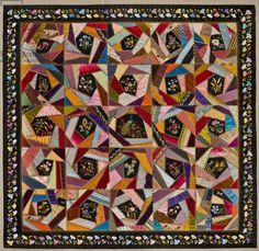 Crazy Quilt, c.1880 (silk)