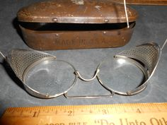 GOGGLES VINTAGE WILLSON SAFETY GLASSES,MOTORCYCLE,STEAMPUNK, | eBay