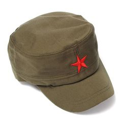 4320c5a7bd9e8 Unisex Red Star Cotton Army Cadet Military Cap Adjustable Hat at Banggood  Gorras