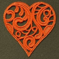 FSL Filigree Heart 6 - 4x4 | FSL - Freestanding Lace | Machine Embroidery Designs | SWAKembroidery.com Ace Points Embroidery
