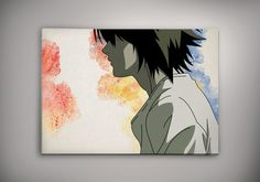 Death Note L Ryuzaki Anime Manga Watercolor Print by EpicShoppe 25.00