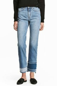 Straight High Cropped Jeans