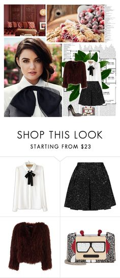 """""""Lucy Hale"""" by missoumiss ❤ liked on Polyvore featuring Oris, Giambattista Valli, Karl Lagerfeld and Christian Louboutin"""