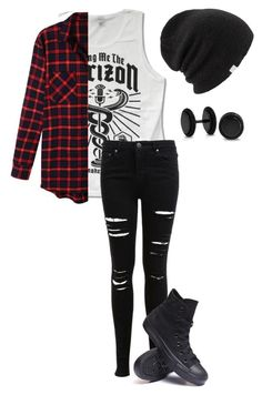 """Untitled #481"" by bands-are-my-savior ❤ liked on Polyvore featuring LE3NO, Miss Selfridge, Converse, Coal and Bling Jewelry"