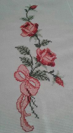 Regelungen und Regelungen für mit Etamin behandelte Handtücher – New Ideas Cross Stitch Bookmarks, Cross Stitch Rose, Cross Stitch Borders, Cross Stitch Flowers, Cross Stitch Designs, Cross Stitching, Cross Stitch Patterns, Crewel Embroidery, Beaded Embroidery