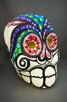 """The MOA Shop: """"Paper Mache Skull"""" from Mexico."""