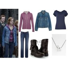 """""""Hermione Granger Deathly Hallows (Outfit 6)"""" by yellowheads on Polyvore"""