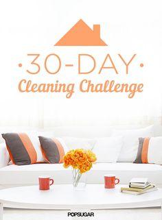30-Day Cleaning Challenge Printable | POPSUGAR Smart Living