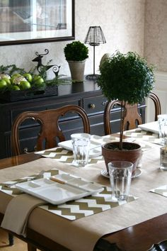 EAB DESIGNS fondue table setting 5
