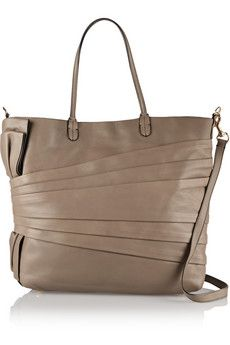 Valentino Pleated leather shoulder bag | THE OUTNET