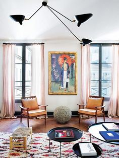 a perfectly eclectic paris apartment. / sfgirlbybay