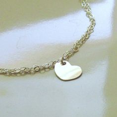 Tiny Sterling Silver Heart Bracelet Sterling by PamelaCurran, $27.00