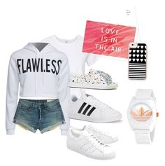 """""""Flawless"""" by wakawaka on Polyvore featuring RE/DONE, WithChic, Loeffler Randall, rag & bone, adidas Originals, adidas and Casetify"""