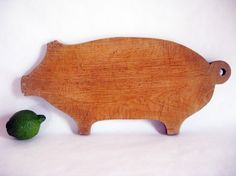 Pig Cutting Board - Vintage