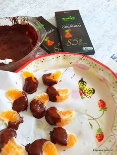 Receita- Mexerica com chocolate