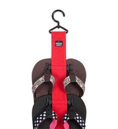 Closet Hanging Sandal Rack #organize