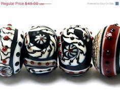 ON SALE 35 OFF 10205321  Six Dakota Quilt Rondelle by gracebeads, $29.25