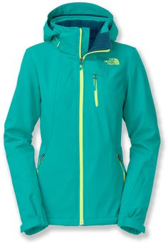 Keep it bright this ski season with the The North Face Komper Insulated Jacket in Borealis Blue.
