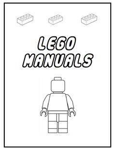 Create a binder for all those Lego manuals you have.  Print off this free printable, let your kids color it, slide it into a binder with all those manuals and you're done.  Easy organization project, that your kids can help with.