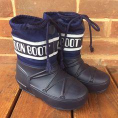 Tecnica Moon Boot Pod Junior Sz 11 Toddler Navy Blue Logo The Original Moon Boot    eBay