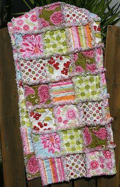 Ginger Blossom rag quilt