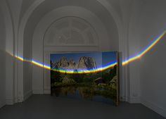 Unflattened, 2012 Photomural, prism, light 200x300 cm Land of Tomorrow, Louisville, US