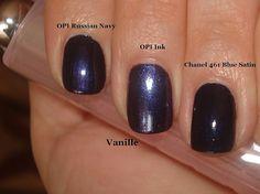 Pedicure  OPI Russian Navy vs Ink  vs Chanel Blue Satin by Vanille_Yuliya, via Flickr