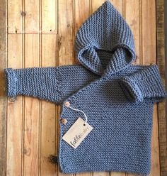 hand knitted organic cotton chunky hoodie | fable baby.