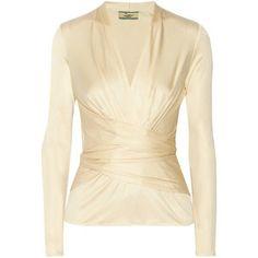 Issa Wrap-effect silk-jersey top
