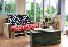Möbel Paletten gartenmöbel europaletten wohnzimmer kissen auflagen