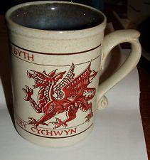 Laugharne Pottery Handmade Welsh Stoneware Mug Dragons New Markham Howells