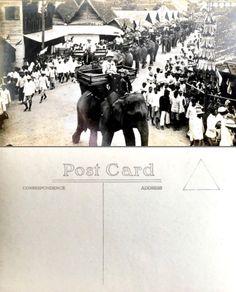 King of Thailand : King Prajadhipok (RAMA VII) พระบาทสมเด็จพระปรมินทรมหาประชาธิปก พระปกเกล้าเจ้าอยู่หัว King Rama VII Prajadhipok on Elephant in Chiang Mai 1928 ; 2471