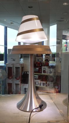 LUXA Lamps (white) are something unique as the lamp shade floats in mid air above the base! Lighting Showroom, Lava Lamp, Lamps, Table Lamp, Shades, Lamp Ideas, Lighting Design, Unique, Base