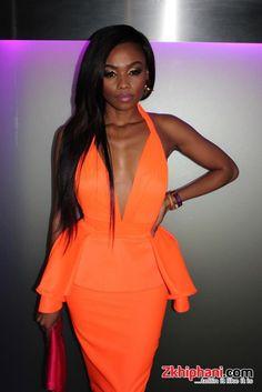 Bonang Matheba rocks the sultry summer night in festive form Music Festival List, Music Festivals, Queen B, Music Awards, Trendy Fashion, Peplum Dress, Body Confidence, Glamour, Style Inspiration