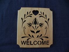 Welcome Sign by dreamwvr81 on Etsy, $12.00