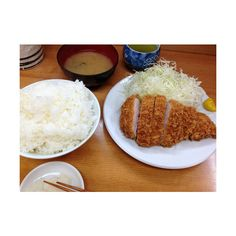 Deep-fried pork loin lunch set from Tonkatsu Yamaie @ Ueno ,Tokyo ❤ liked on Polyvore featuring home and kitchen & dining