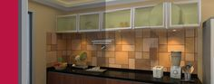 Aluminum Frame Glass Kitchen Cabinet Doors