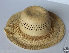 #women hat : women straw hat size L (58) natural palm straw made in Guatemala  (008) withing our EBAY store at  http://stores.ebay.com/esquirestore