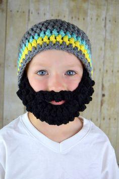 Barba gris sombrero azul amarillo negro gorro con por YumbabY