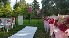 Décoration cérémonie laïque roses