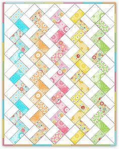 Super Zig -- The picture is a tutorial all in itself -- shows how to create this quilt!.  don't usually like zig but think Im lovin this