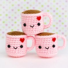 Cute Pink Gifts For Valentine's Day - Super Cute Kawaii! - Cute Pink Gifts For Valentine's Day – Super Cute Kawaii! Kawaii Crochet, Crochet Food, Cute Crochet, Crochet Christmas Gifts, Crochet Gifts, Crochet Patterns Amigurumi, Crochet Dolls, Narwhal Plush, Deco Originale