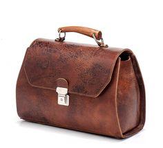 Brown Messenger Bag / Leather Tote Bag / by EllenRubenBagsShoes