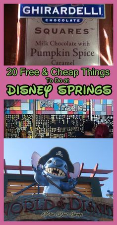 20 Free and Cheap things to do at Disney Springs, Walt Disney world, Walt Disney World Tips