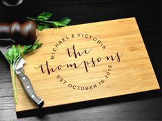 Wedding Gift Personalized Cutting Board by truemementosgifts
