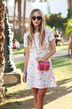Coachella 2013 - It's A Dull Life Roger Vivier, Vestido Chanel Vintage, Vintage Dress, Style Cool, My Style, Cooler Stil, Quoi Porter, Street Style, Stunning Dresses