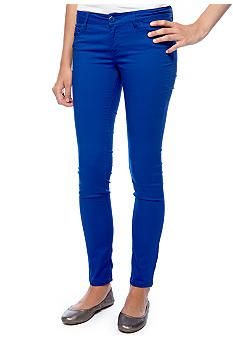 Fire Colored Skinny Jean #belk #juniors #color