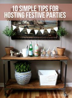 Stay stress free while planning your holiday parties this season #holidayparty #entertainingtips #CabinetsToGo